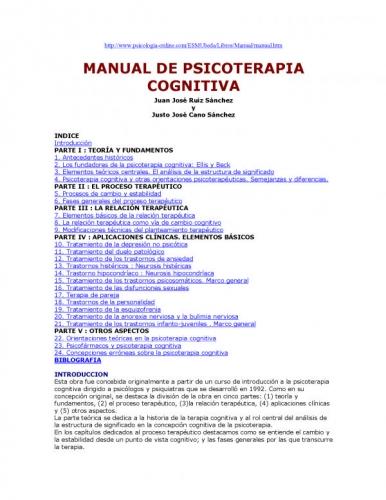 manual de psicoterapia pdf
