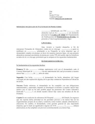 formulario interposicion demanda: