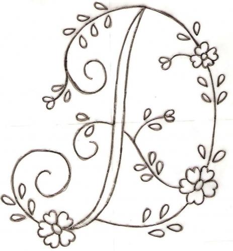 Plantillas para bordar letras - Imagui