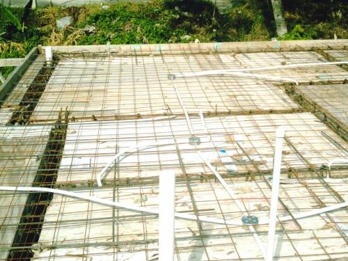 imagen armado de losa de techo