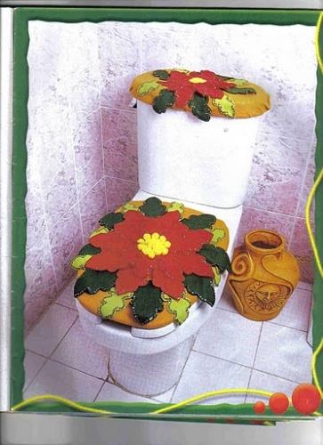 Baños Decorados Navidenos: de Grupo de Manualidades en pañolency Baño decorado en fieltro