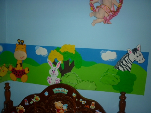 Decoración de cuarto para bebé en foami - Imagui