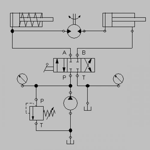Circuito Hidraulico Basico : Imagen circuito básico hidráulica grupos emagister