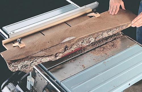 como cortar una madera deforme