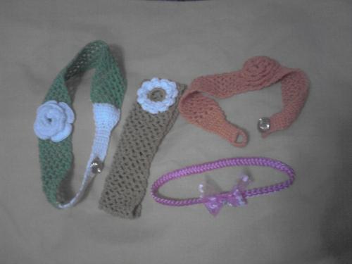 Diademas en crochet