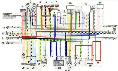 diagrama electrico suziki gn 125
