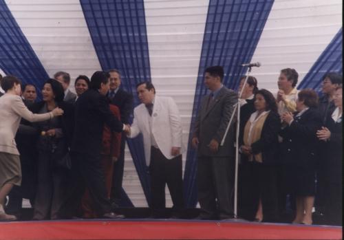 Felicitado por el Presidente del Peru.