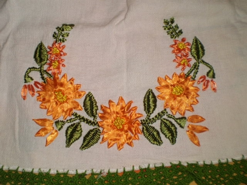 Imagenes De Flores De Bordado De Liston Imagui
