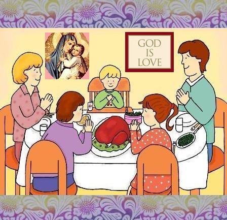 Dibujos de familias cenando en navidad  Imagui