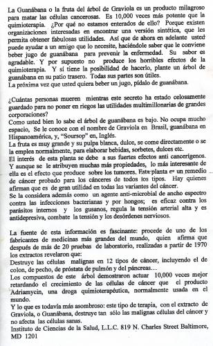 La Guanábana o Graviola
