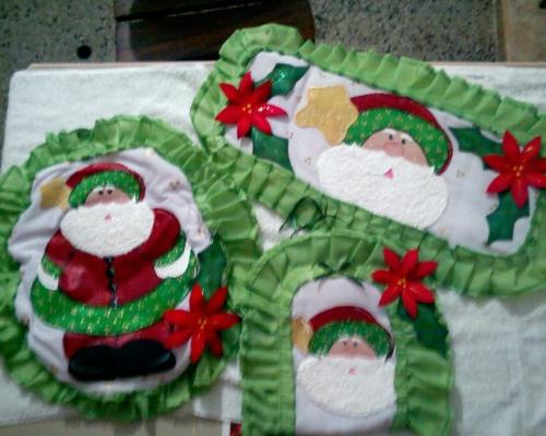 Lenceria De Baño En Foami:Decoracion De Bano En Navidad