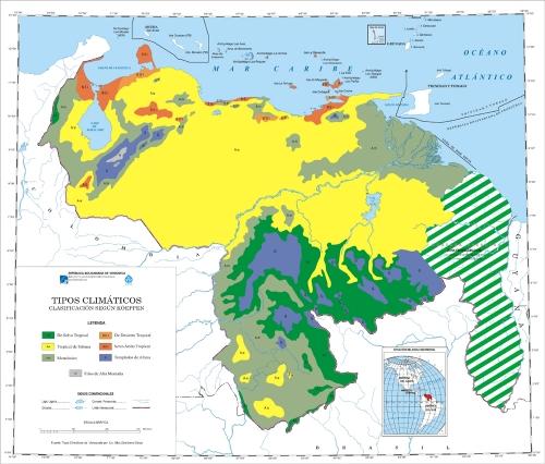 Mapa Clim�tico de Venezuela.