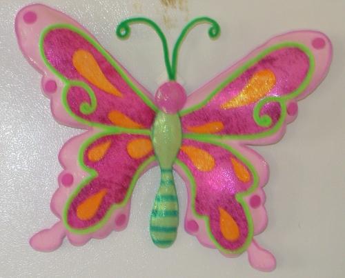 Dibujo en foami de mariposa - Imagui