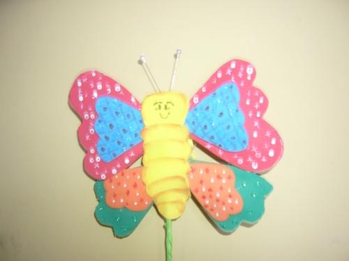Mariposa goma mariposa en goma eva goma eva pinterest - Mariposas goma eva ...