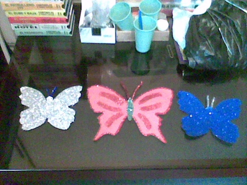 MARIPOSAS CON ESCARCHA