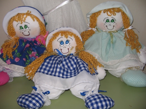 muñecas peponas de trapo