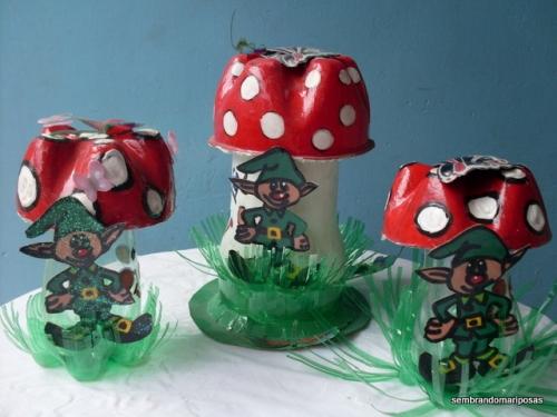 """Imagen primera clase de taller de reciclaje """"asi se siembran mariposas"""