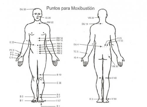 PUNTOS DE MOXIBUSTION