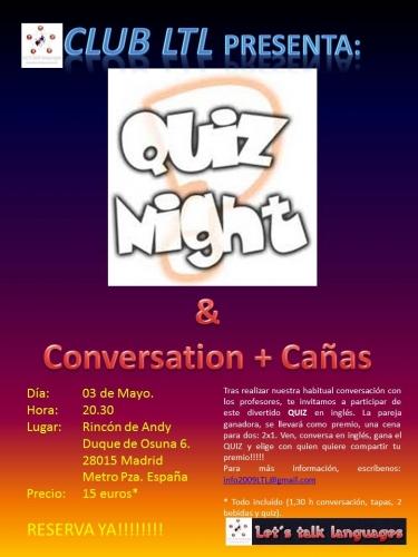 Quieres participar en nuestro grupo de conversación en inglés+ un quiz en inglés con premio?