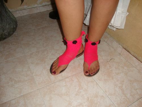 Sandalias tejidas tipo crochet - Imagui