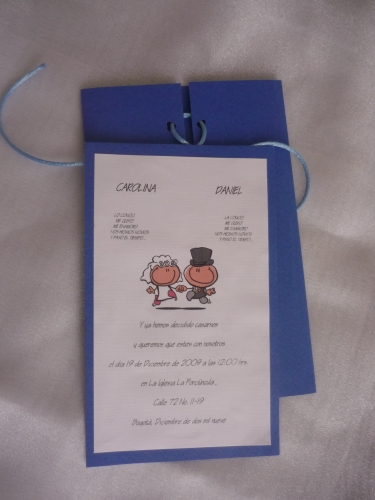 tarjeta boda moderna