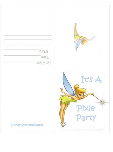 Imagen Tarjeta de invitación Tinkerbell o campanita - grupos ...