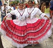 Vestuario t�pico de la cumbia colombiana